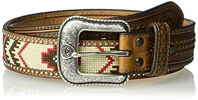 Ariat Men's Arrow Billet Ribbon Center Belt, multi/color, 46