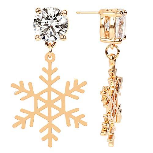 Venta De Pendientes Para Mujer Pendientes De Micro Diamantes Calle Copo De Nieve Pendientes De Metal Mujer