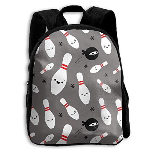 ADGBag Children Boys Girls Ninjas and Bowling Backpack Shoulder Bag Book Scholl Travel Backpack