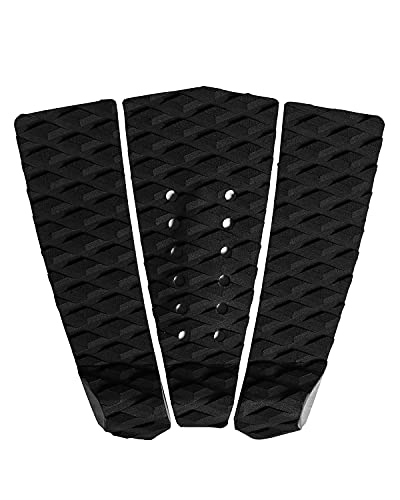 Abahub 3 Piece EVA Surfboard Deck Traction Pads with Kicker for Stomp Skimboards, Surf Boards, Funboard, Fish Board, Black