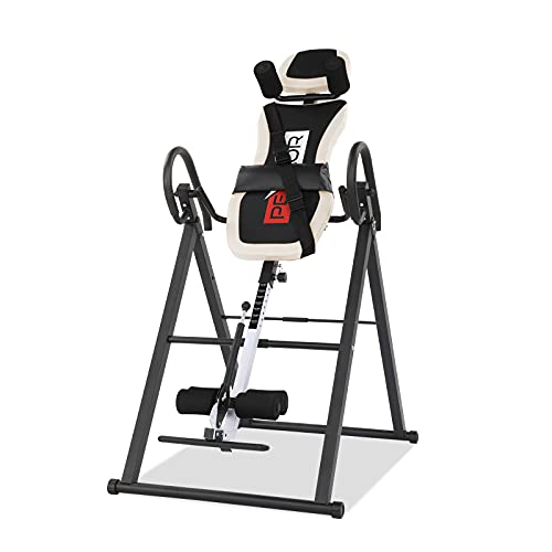 PEXMOR Inversion Table for Back Pain Relief, 330 lbs Capacity with Shoulder Holder & Adjustable Safe...