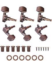 Drfeify Huvudinställningspinnar, 3L + 3R inställningspinnar maskinhuvudstämmare för utbyte av akustisk elektrisk gitarr