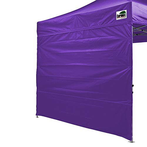Eurmax Instant SunWall for 10x10 Pop up Canopy, Outdoor Instant Canopies, Removable Zipper End, 1 Pack Sidewall Only(Purple)