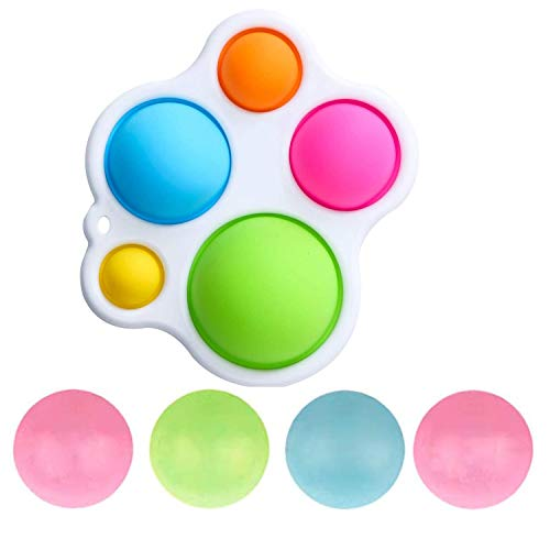 Wbeng Juguetes sensoriales simples del bebé, juguetes de la educación temprana del silicón que voltea la tabla de agarrar juguetes para bebés y niños pequeños