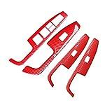 JIS 4 unids/Set LHD Red Car Red Window Levantamiento del Interruptor del Interruptor del Interruptor de la Cubierta del Panel Ajuste para Hyundai Elantra 2017 2018 2019 2020 Accesorios