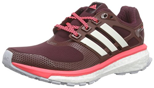 adidas Performance Damen Energy Boost 2.0 ATR Laufschuhe, Braun (Maroon/Chalk White/Flash Red S15), 36 EU