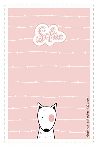 Sofia: Personalized Name Square Paper Notebook Light Pink Dog | 6x9 inches | 120 pages: Notebook for drawing, writing notes, journaling, doodling, ... writing, school notes, and capturing ideas