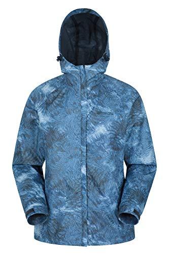 Mountain Warehouse Chaqueta Torrent para Mujer - con Capucha Ajustable e Impermeable - Fácil de Guardar - Ideal para Viajes y Senderismo Azul Marino 48