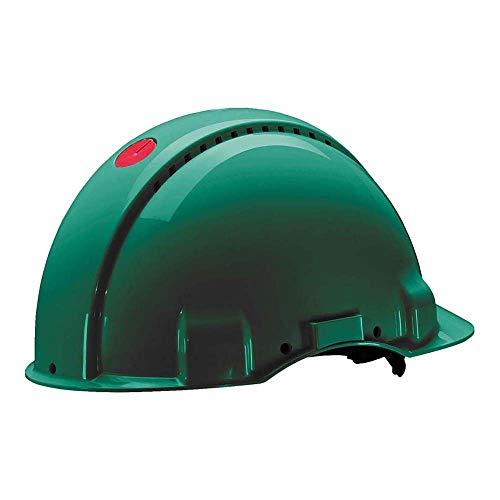 3M Peltor Schutzhelm G3000, G30NUG, mit 3M Uvicator Sensor, ABS, mit Schweißband und Ratschensystem, grün