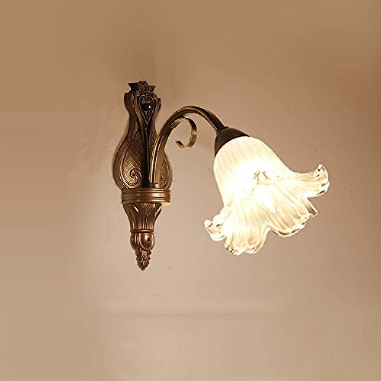 Retro Glas Eisen LED Wandleuchte, kreative Schlafzimmer Treppen Wohnzimmer Nachttisch Dekoration Wand hngen Lampe (Design   1 Kopf)