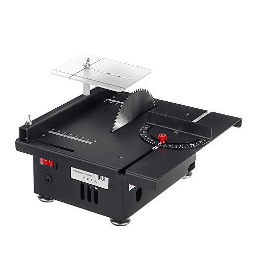 NOBGP Mini Hobby Tischkreissäge mit Gehrungslehre, 7200 U/min Multifunktions-verstellbare Tischgehrungssäge für handgefertigte DIY-Holzmodelle, Leiterplattenschneiden