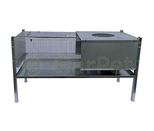 Küken Aufzucht Wärme Box Heim Metall Aufzuchtbox 100x50x50 für 50-60 Küken - 2