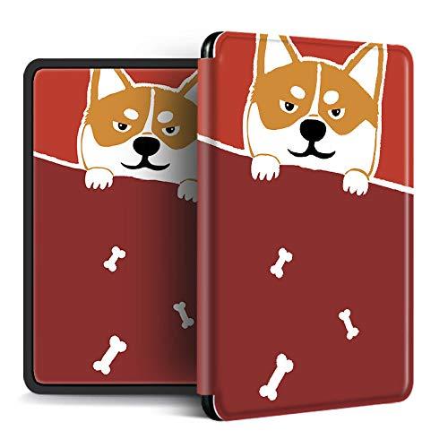 FundaparaKindlePaperwhite,Funda Kindle Amazon Kindle con Función De Activación/Reposo Automático Fun Husky Animal Pattern Funda para Kindle Magnética Impermeable FL