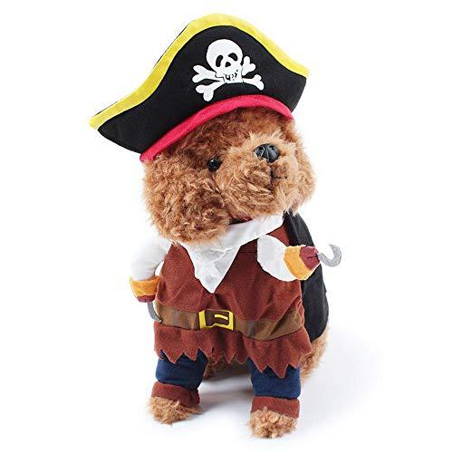 ZQEU Piratenkostüm für Hunde und Katzen, Piratenkostüm, S