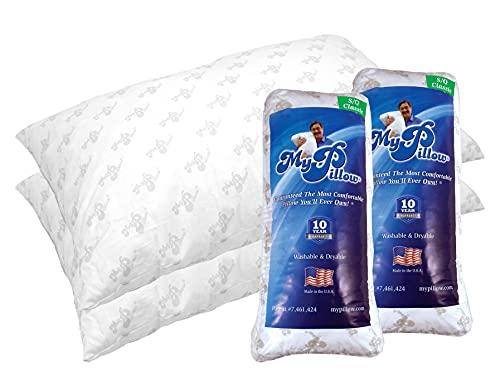 MyPillow Classic Bed Pillow 2 Pack [Standard/Queen, Firm]