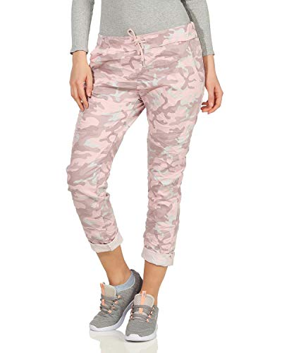 ZARMEXX Damen Sweatpants Baggy Boyfriend Camouflage Sommerhose All-Over Print One Size