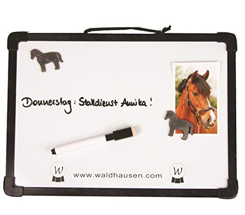 Paarden stalbord met tafelstift en 2 magneten van kunststof voor boxen, afstambordje, stall-magneetbord