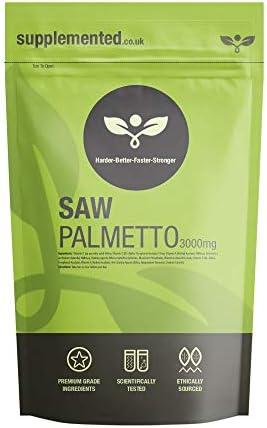 Saw Palmetto Capsules 3000mg 180 Capsules UK Made. Pharmaceutical Grade