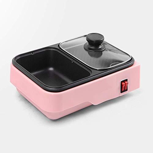 DFBGL Máquina de cocción de Olla Caliente eléctrica portátil para el hogar, Olla de Barbacoa multifunción, Barbacoa Separable para una fácil Limpieza Barbacoa eléctrica Bandeja para Horn
