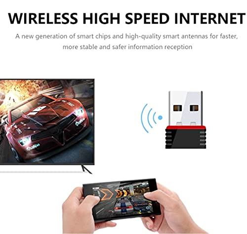 Generic 950 Mbps 2.4 GHz 802.11 Wireless-N Nano USB 2.0 Single Band Wi-Fi High Speed Receiver Dongle for PC Desktop Laptop Small Black (Pack of-1)