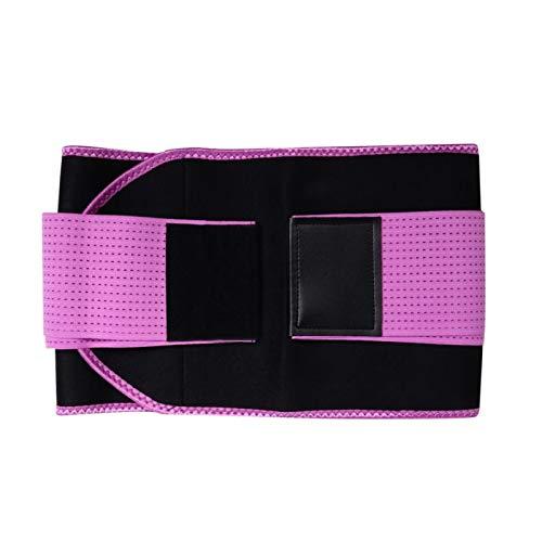 YLFC Cinturón De Apoyo Faja De Cintura De Entrenamiento Multifuncional Elástico Levantamiento De Peso Sudoración Cinturón Protector De Cintura Corrector Pérdida De Peso (Color : A, Size : S)