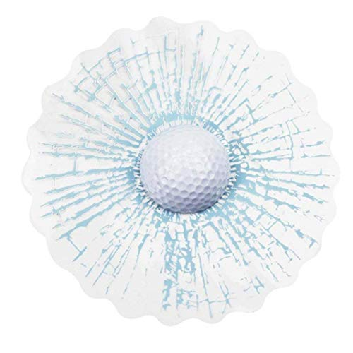 Nachricht 1 Hoja Auto gebrochen Glas 3D-Effekt Auto benutzerdefiniertes Etikett selbstklebendes Etikett reflektierenden weißer Golfball