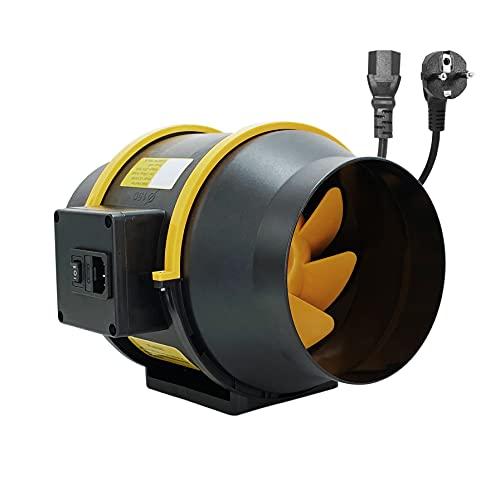 150mm 197CFM Ventilatore da Condotto in linea Moonjor 150mm Aspiratore Regolatore a 2 Velocità con Presa / IEC per Casa, Ufficio, Bagno, Stanza di Coltivazione - Nuovo