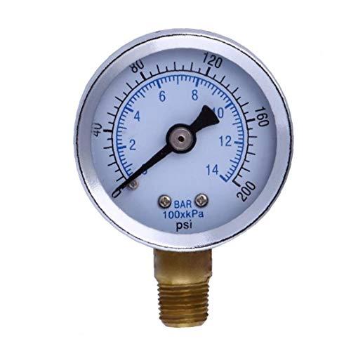 """xiaocheng 1/8"""" Npt Manometer Kraftstoff-luftverdichter Meter Hydraulikdrucktester 200 Psi Manometer Doppelskala Druckmesser Bequem Und Praktisch Werkzeuge"""