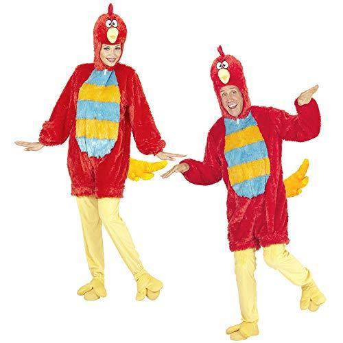WIDMANN 97157Adulto Disfraz Pájaro, Rojo, Medium