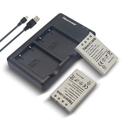 Newmowa EN-EL5 Replacment Battery (2-Pack) and Dual USB Charger Kit for Nikon Coolpix 3700, 4200, 5200, 5900, 7900, P3, P4, P80, P90, P100, P500, P510, P520, P530, P5000, P5100, P6000, S10 Cameras