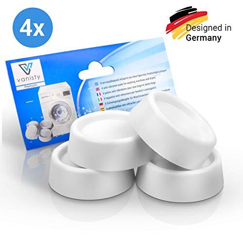Vanisty - [4x] Universal Schwingungsdämpfer MADE IN EUROPE für Waschmaschinen & Trockner - rutschfeste anti Vibrationsdämpfer - Vibration Dämpfer - Gummifüße für Waschmaschinen