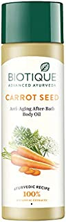 Biotique Bio Carrot Seed Anti-Aging After-Bath Body Oil - 120ml