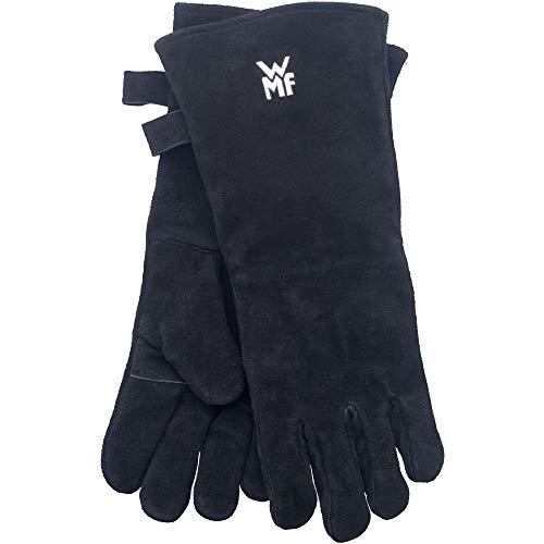 WMF BBQ Grillhandschuhe 1 Paar, Leder, hitzebeständige Handschuhe, Ofenhandschuhe extra lang, praktische Größe (10/XL)