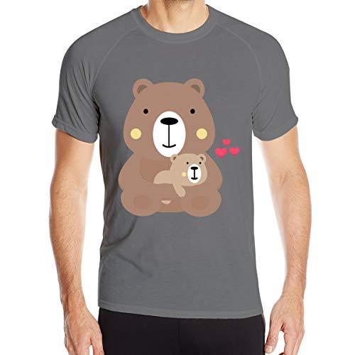 Mary S West Ours en Peluche T-Shirt à séchage Rapide pour Hommes T-Shirt Militaire Hommes Camping en Plein air Chemises de randonnée à Manches Courtes