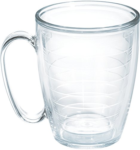Tervis Clear & Colorful Insulated Tumbler, 16oz Mug - Tritan, Clear