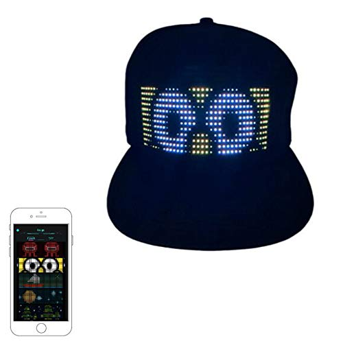 Dtong Tapa Programable Luminosa LED Sombrero De Fibra con...