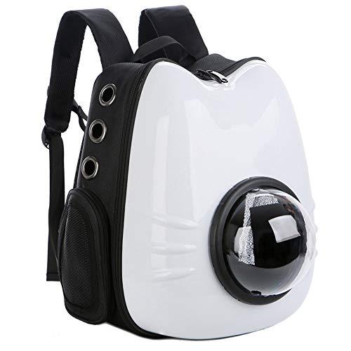 CWBB Atmungsaktive Werbeartikel Raumkapsel Haustier Tasche, Katze Tasche Raum Haustier Tasche transparent Katze Rucksack aus Tragetasche Hund Umhängetasche Katze Tasche Käfig,White