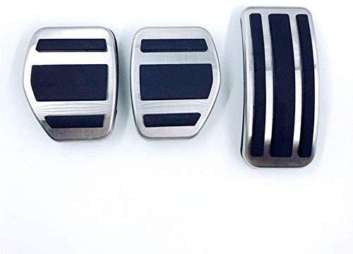 Reposapiés de Coche,Ajuste de Placa de Almohadilla de Pedal modificada,para Peugeot 2008301 2014-2020 207 CC SW GTI 208 GTI,para Citroen C4L C4 C3-XR-3pcs