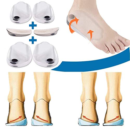 Mcvcoyh 3 Pairs Orthopedic Insoles for Men &Women, Orthotic Inserts, Lateral Heel Wedges Shoe Inserts for Corrective Pronation, Supination, O/X Type Leg Corrective