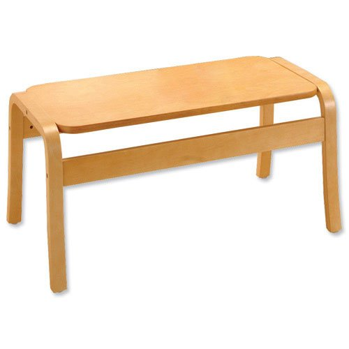 Trexus reception tavolino rettangolare in legno W900x D450x H430MM beech