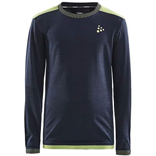 Craft Fuseknit Comfort T-shirt à manches longues et col rond pour enfant, Blaze-azid, 122-128