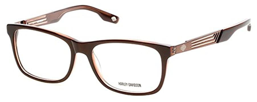HARLEY DAVIDSON Eyeglasses HD0726 048 Shiny Dark Brown 58MM