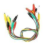Aeloa 50cm Crocodile Test Wire Clip Numero 35mm Doppio Attacco Coccodrillo Clip a Coccodrillo Cavo for apparecchi elettrici 10 Pezzi
