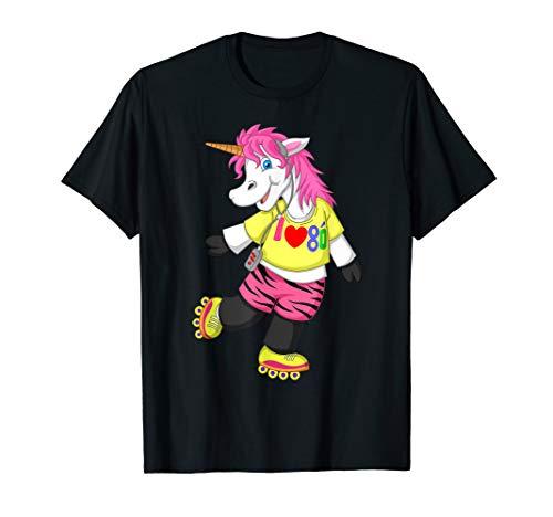 80er 90er Jahre Einhorn Kostüm Outfit für 80er Retro Party T-Shirt