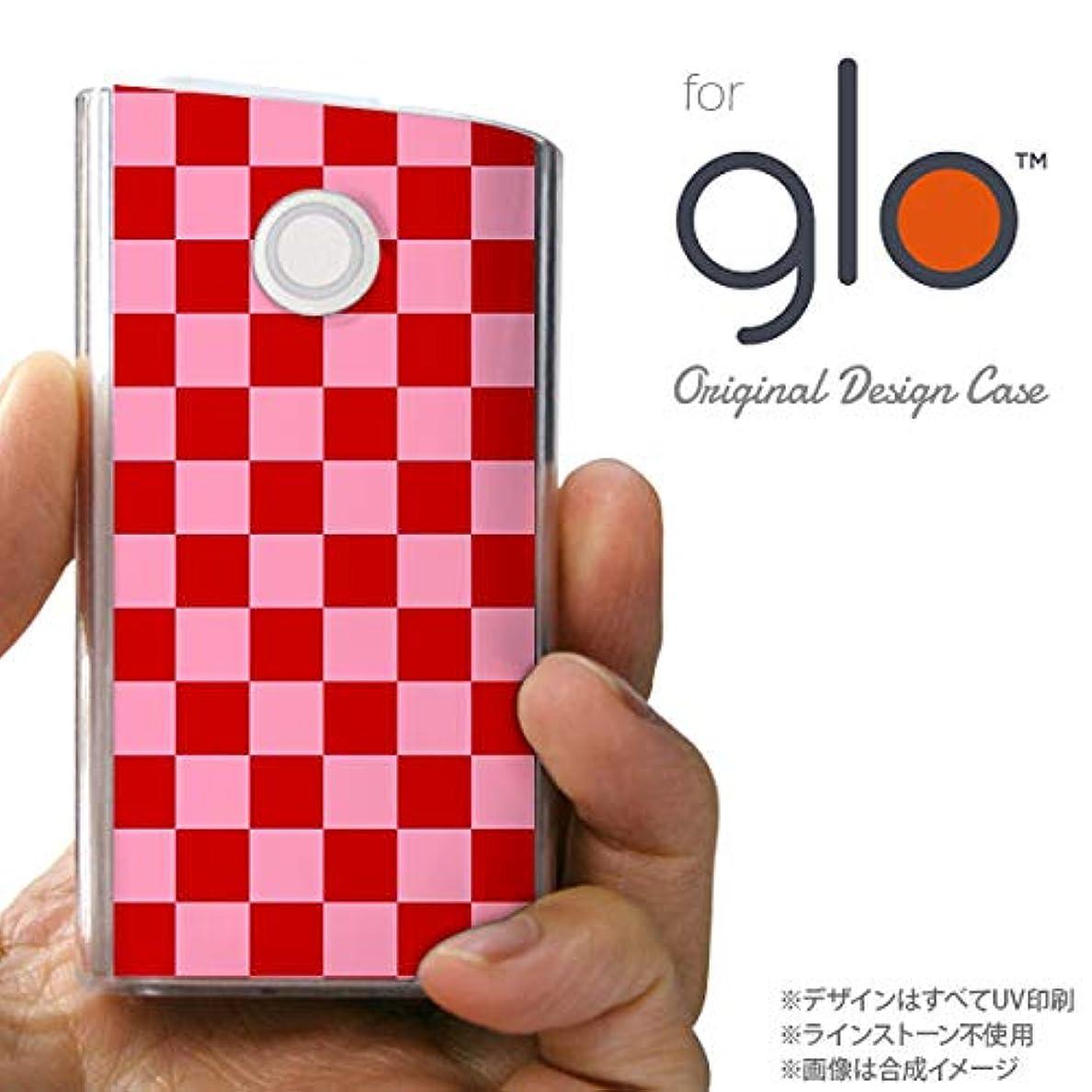 巻き取り細菌コンサートglo グローケース カバー グロー スクエア 赤×ピンク nk-glo-770