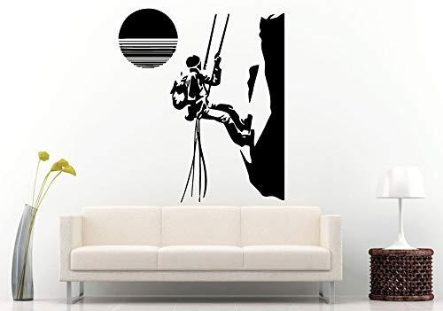 Huaden Sport Muurstickers Rock Klimmen In De Zonsondergang Verwijderbare Muurstickers Home Art Decor Positieve Sport Behang 75x83cm 824 Brown