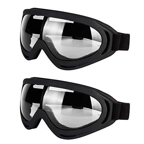 LJDJ Motorcycle Goggles - Glasses Set of 2 - Dirt Bike ATV Motocross...