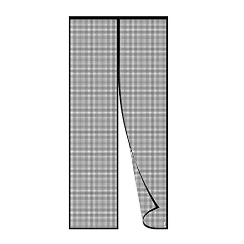 PHILORN Puerta de mosquitera magnética, protección contra insectos, mosquitera, cortina magnética para puerta de balcón, cortina de mosquitera de fibra de vidrio con banda magnética completa (100*220)