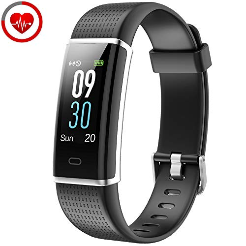 YAMAY Braccialetto Fitness Tracker Orologio Cardiofrequenzimetro da polso Smartwatch Donna Uomo Impermeabile IP68 Schermo a Colori Smart Watch Activity Tracker Pedometro per iPhone Samsung Android iOS