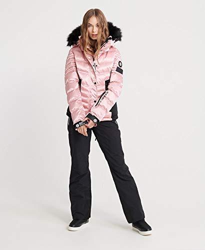 Superdry Luxe Puffer Damen Schneejacke S Ice Pink Metallic